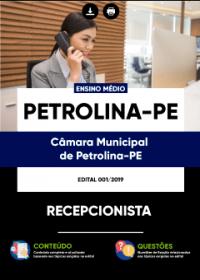 Recepcionista - Câmara de Petrolina - PE