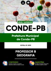 Professor B - Geografia - Prefeitura de Conde - PB