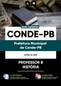 Professor B - História - Prefeitura de Conde - PB