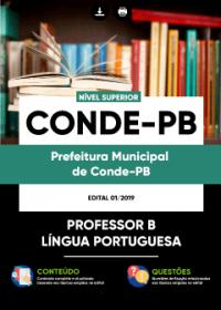 Professor B - Língua Portuguesa - Prefeitura de Conde - PB