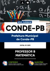 Professor B - Matemática - Prefeitura de Conde - PB