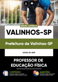 Professor de Educação Física - Prefeitura de Valinhos-SP