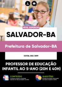 Professor Educação Infantil ao 5ºano - Prefeitura de Salvador-BA