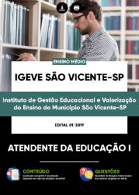 Atendente da Educação I - IGEVE São Vicente-SP