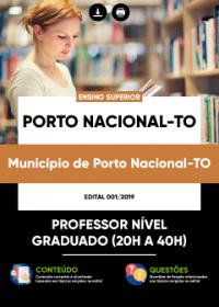 Professor Nível Graduado - Prefeitura de Porto Nacional - TO