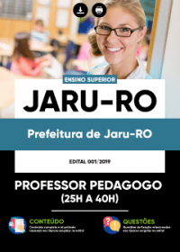Professor Pedagogo - Prefeitura de Jaru-RO