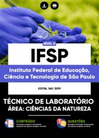 Técnico de Laboratório - Ciências da Natureza - IFSP