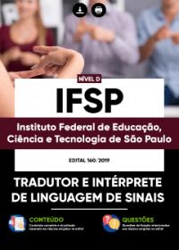 Tradutor e Intérprete de Linguagem de Sinais - IFSP