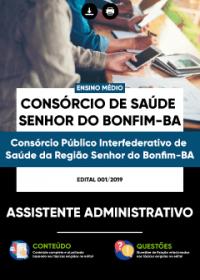 Assistente Administrativo - Consórcio de Saúde Senhor do Bonfim-BA