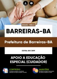 Apoio a Educação Especial - Cuidador - Prefeitura de Barreiras-BA