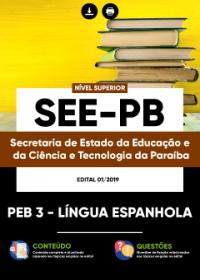 PEB 3 - Língua Espanhola - SEE-PB
