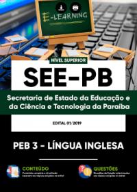 PEB 3 - Língua Inglesa - SEE-PB