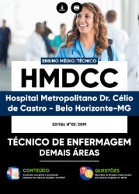 Técnico de Enfermagem - Demais Áreas - HMDCC
