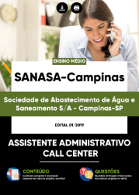 Assistente Administrativo - Call Center - SANASA-Campinas