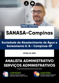 Analista Administrativo - Serviços Administrativos - SANASA-Campinas
