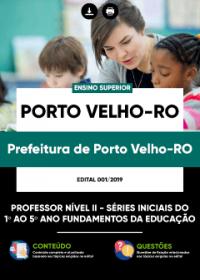 Professor Nível II - Anos Iniciais - Prefeitura de Porto Velho-RO
