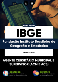 Agente Censitário Municipal e Agente Censitário Supervisor - IBGE