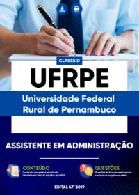 Assistente em Administração - UFRPE