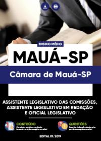 Assistente Legislativo das Comissões, Redação e Oficial - Câmara de Mauá-SP