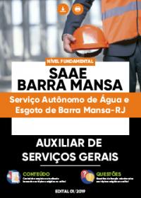 Auxiliar de Serviços Gerais - SAAE Barra Mansa-RJ