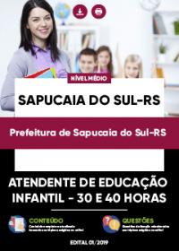 Atendente de Educação Infantil - Prefeitura de Sapucaia do Sul-RS
