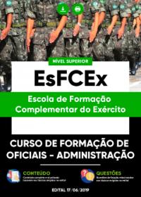 Curso de Formação de Oficiais - Administração - EsFCEx