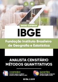 Analista Censitário - Métodos Quantitativos - IBGE