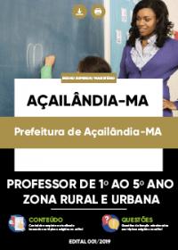 Professor de 1º ao 5º Ano - Prefeitura de Açailândia-MA