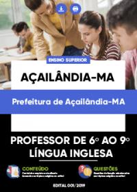 Professor de 6º ao 9º Ano - Língua Inglesa - Prefeitura de Açailândia-MA