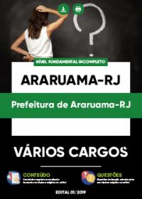 Cargos 1 ao 6 e Cargo 10 - Prefeitura de Araruama-RJ