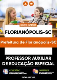 Professor Auxiliar de Educação Especial - Prefeitura de Florianópolis-SC