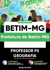 Professor PII - Geografia - Prefeitura de Betim-MG