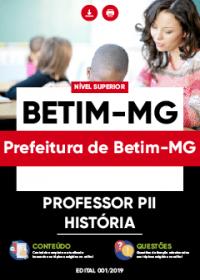 Professor PII - História - Prefeitura de Betim-MG