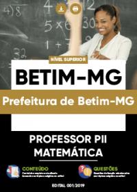 Professor PII - Matemática - Prefeitura de Betim-MG