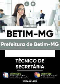 Técnico de Secretaria - Prefeitura de Betim-MG