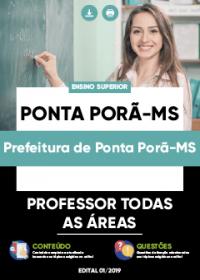 Professor Todas as Áreas - Prefeitura de Ponta Porã-MS