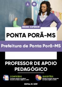 Professor de Apoio Pedagógico - Prefeitura de Ponta Porã-MS
