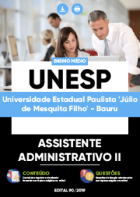 Assistente Administrativo II - UNESP