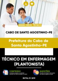 Técnico em Enfermagem - Prefeitura do Cabo de Santo Agostinho-PE