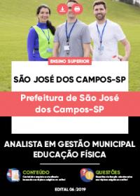 Analista em Gestão Municipal - Ed. Física - Prefeitura de São José dos Campos-SP