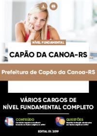 Todos os Cargos de Nível Fundamental Completo - Prefeitura de Capão da Canoa-RS