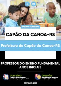 Professor Ensino Fundamental - Anos Iniciais - Prefeitura de Capão da Canoa-RS