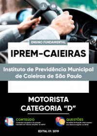 Motorista Categoria D - IPREM de Caieiras-SP