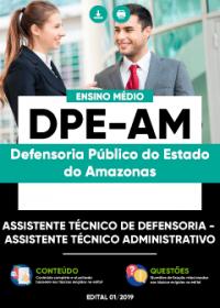 Assistente Técnico de Defensoria - Assistente Técnico Administrativo - DPE-AM