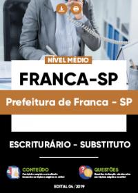 Escriturário - Substituto - Prefeitura de Franca-SP