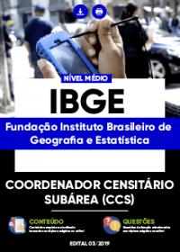 Coordenador Censitário Subárea - IBGE