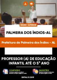 Professor de Educação Infantil - Prefeitura de Palmeiras dos Índios-AL