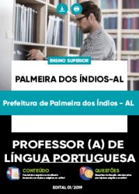 Professor de Língua Portuguesa - Prefeitura de Palmeiras dos Índios-AL
