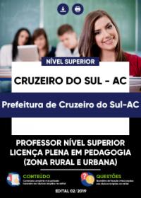 Professor Nível Superior - Prefeitura de Cruzeiro do Sul-AC