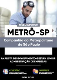 Analista Desenvolvimento Gestão Júnior - Administração de Empresas - Metrô